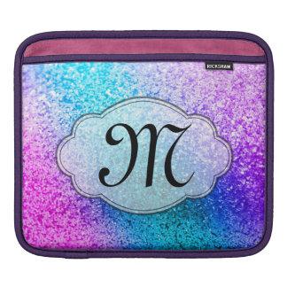 Bling Glitter Girly Pink Monogram IPAD Laptop Bag Sleeve For iPads