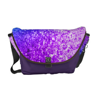 Bling Glitter Girly Pink Purple Bag Tote Purse Courier Bag