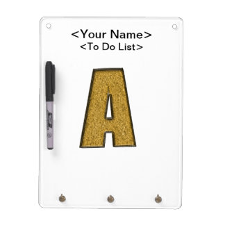 Bling Gold A Dry-Erase Whiteboards