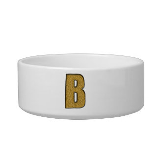 Bling Gold B Pet Water Bowl