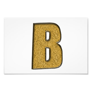 Bling Gold B Photographic Print