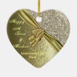 BLING GOLD CUSTOM 50th ANNIVERSARY GIFT  ORNAMENT