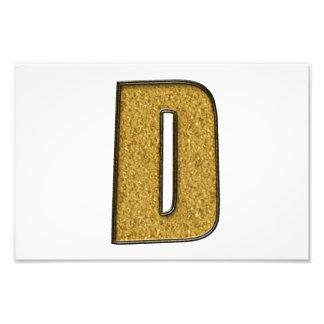 Bling Gold D Photo Print