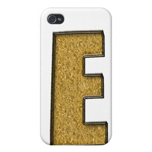 Bling Gold E iPhone 4/4S Covers