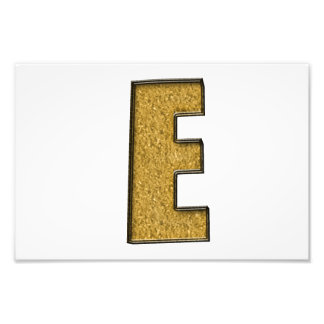 Bling Gold E Photographic Print