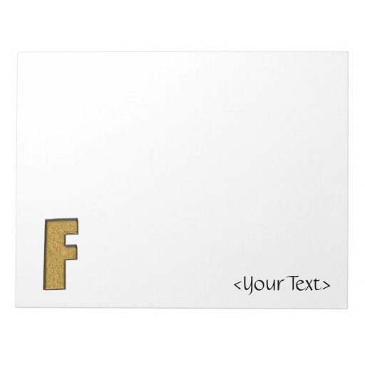 Bling Gold F Notepads