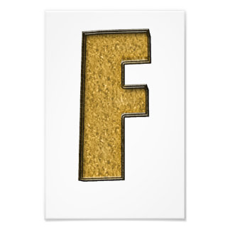 Bling Gold F Photographic Print