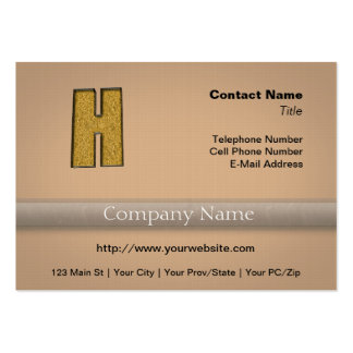 Bling Gold H Business Card Template