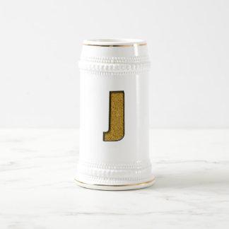 Bling Gold J Beer Stein