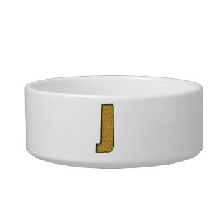 Bling Gold J Cat Water Bowls