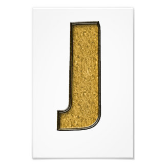 Bling Gold J Photographic Print