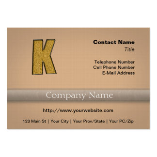 Bling Gold K Business Card Template