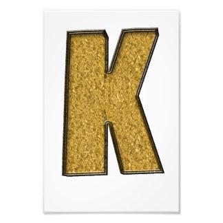 Bling Gold K Art Photo