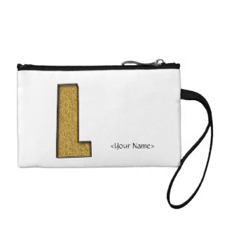 Bling Gold L Coin Purse