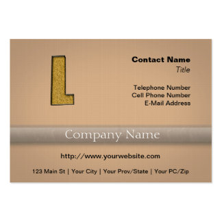 Bling Gold L Business Cards