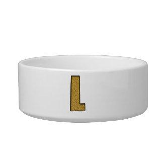 Bling Gold L Cat Bowl