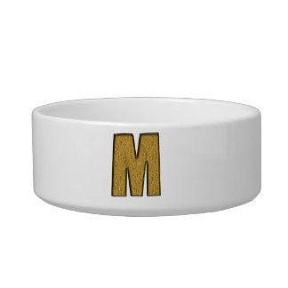 Bling Gold M Cat Water Bowls