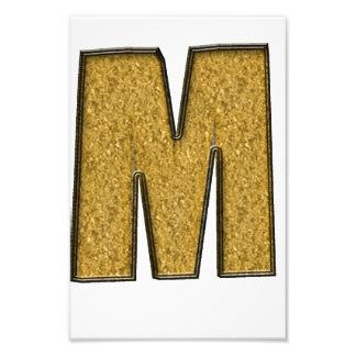 Bling Gold M Art Photo
