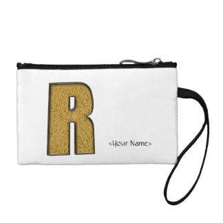 Bling Gold R Coin Wallet