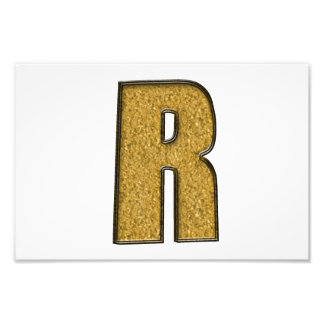 Bling Gold R Photographic Print
