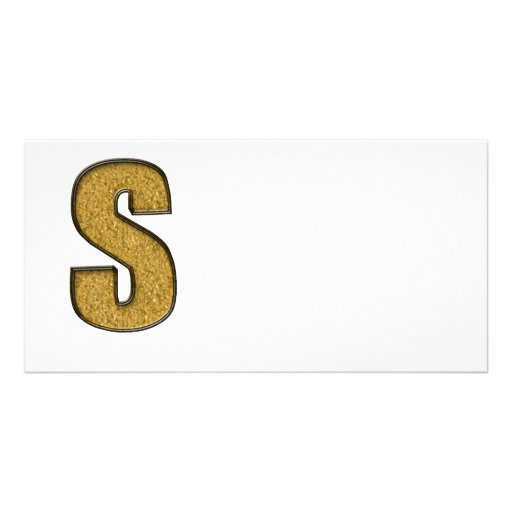 Bling Gold S Photo Card