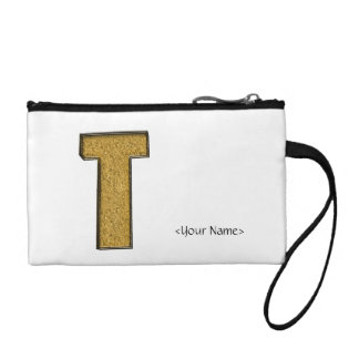 Bling Gold T Coin Purses