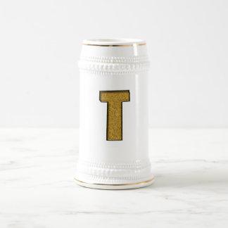 Bling Gold T Beer Stein