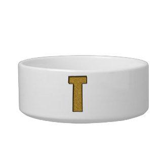 Bling Gold T Pet Water Bowl