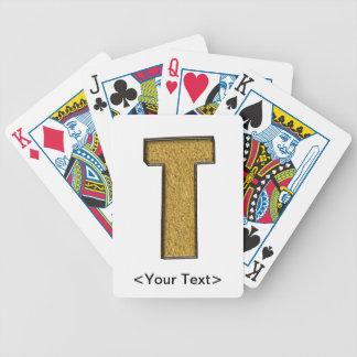 Bling Gold T Card Decks