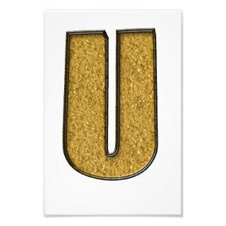Bling Gold U Photo