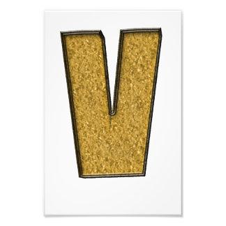 Bling Gold V Photographic Print
