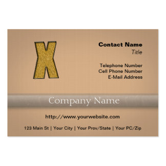 Bling Gold X Business Card