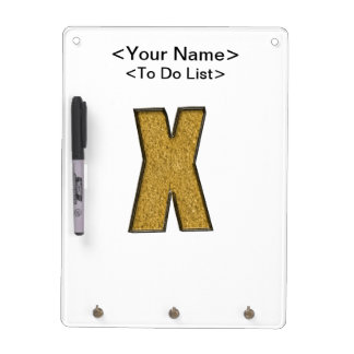 Bling Gold X Dry-Erase Whiteboards