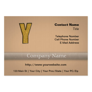 Bling Gold Y Business Card Templates