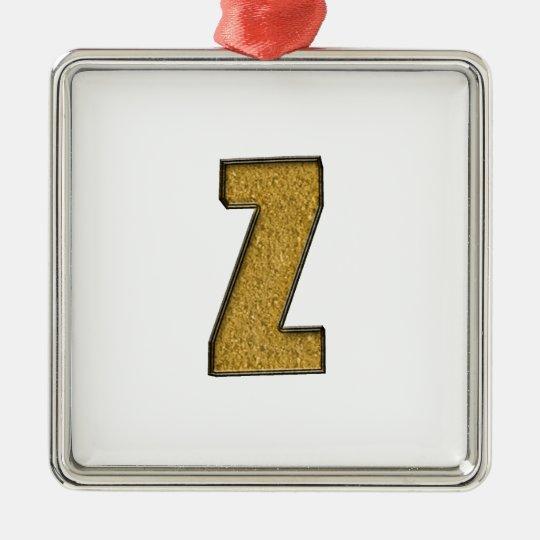Bling Gold Z Metal Ornament