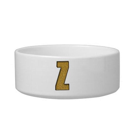 Bling Gold Z Pet Food Bowl