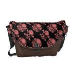 Bling/Grunge Chocolate/Pink Rickshaw Bags Messenger Bags