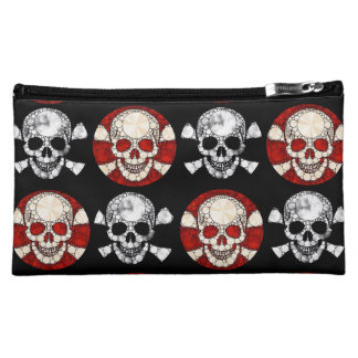 Bling/Grunge Skull and Bones Cosmetic Bags