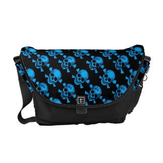 Bling/Grunge Turquoise Skull&Bone Rickshaw Bags Courier Bag