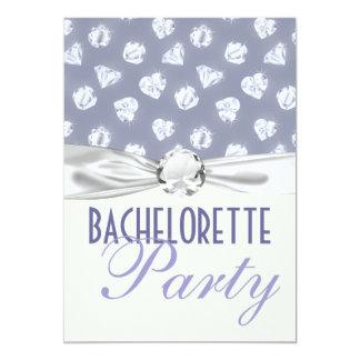 bling heart diamonds bachelorette party invitations