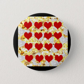 BLING HEARTS PINBACK BUTTON