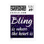 Bling Is Where The Heart Is Postage Stamps
