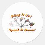 Bling It Spank It Round Sticker