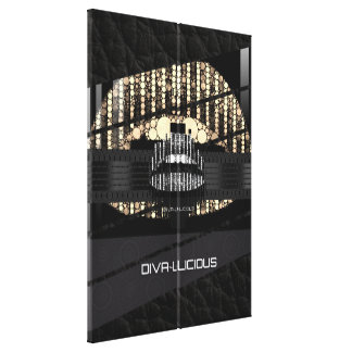 Bling Lips Diva Abstract Wrapped Canvas Canvas Print