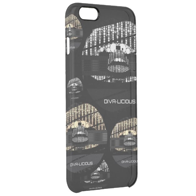 Bling Lips Diva Clear iPhone 6 Plus Case