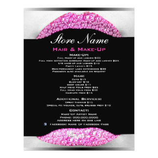 Bling Make-Up Artist Beauty Salon List Of Services Flyer