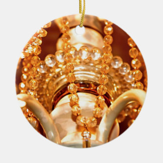 Bling Me Baby 4 Shabby Chandelier Round ORNAMENT