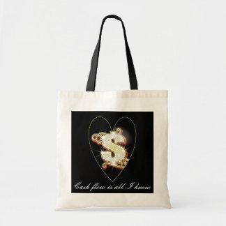 Bling Money Symbol Heart Budget Tote Tote Bag