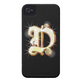 Bling Monogram D iPhone 4 Case