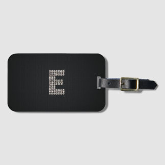 bling monogram - E - luggage tag